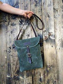 Iné tašky - Pastierska kapsa v khaki zelenej - 10307301_
