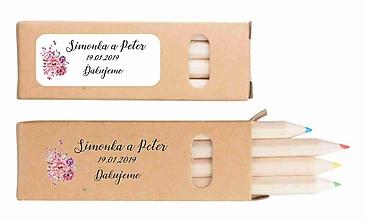 Darčeky pre svadobčanov - Svadobné farbičky Tiny - darček pre hostí - 10310985_