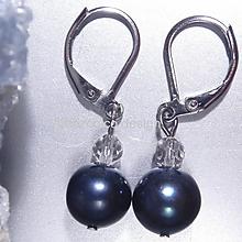 Náušnice - Náušnice říční perly a křišťál - 10308718_