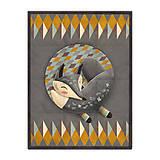Úžitkový textil - Prikrývka Sleeping Grey Foxy - 10309310_