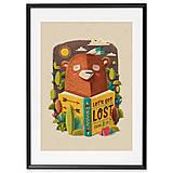 Grafika - Art-Print Bear A4 - 10309420_
