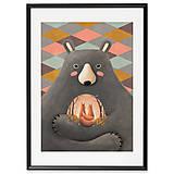 Art-Print Love is in the Bear A3