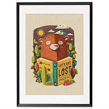 Grafika - Art-Print Bear A4 - 10309420_