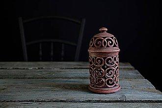 Svietidlá a sviečky - Aromalampa patina železo - 10307292_