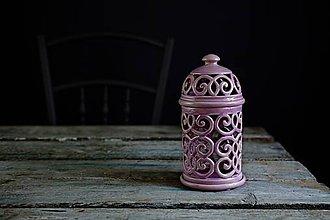 Svietidlá a sviečky - Aromalampa lila - 10307310_