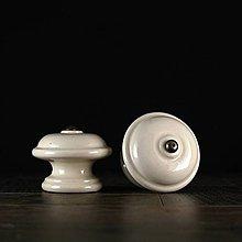 Nábytok - Úchytka - knopka ecru - vzor č. 3 velký - 10310884_