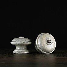 Nábytok - Úchytka - knopka šedá - vzor č. 3 velký - 10310902_