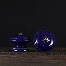 Nábytok - Úchytka - knopka kobalt - vzor č. 3 velký - 10310911_