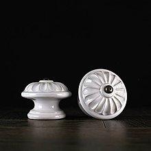 Nábytok - Úchytka - knopka bílá - vzor č. 4 velký - 10310921_