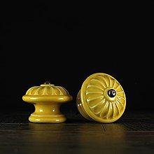 Nábytok - Úchytka - knopka žlutá - vzor č. 4 velký - 10311000_