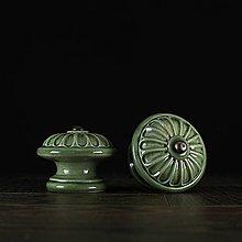 Nábytok - Úchytka - knopka zelená - vzor č. 4 velký - 10311022_
