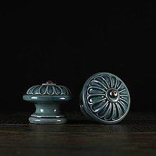 Nábytok - Úchytka - knopka modrá - vzor č. 4 velký - 10311034_