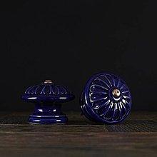 Nábytok - Úchytka - knopka kobalt - vzor č. 4 velký - 10311037_