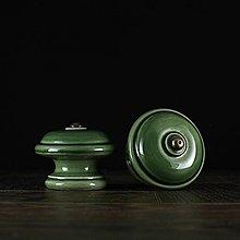 Nábytok - Úchytka - knopka zelená - vzor č. 3 velký - 10311044_