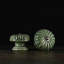 Nábytok - Úchytka - knopka zelená - vzor č. 5 velký - 10311050_