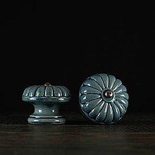 Nábytok - Úchytka - knopka modrá- vzor č. 5 velký - 10311062_