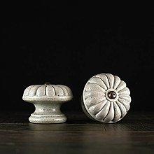 Nábytok - Úchytka - knopka šedá vzor č. 5 velký - 10311085_