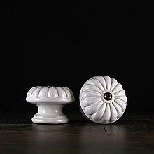 Nábytok - Úchytka - knopka bílá vzor č. 5 velký - 10311098_