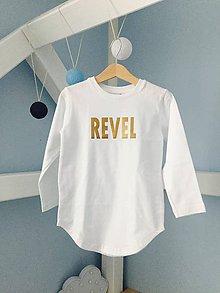 Detské oblečenie - Predĺžené tričko biele - RVL - 10308506_