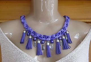 Náhrdelníky - Strapcový náhrdelník - fialový, č. 2552 - 10308360_