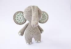 Hračky - sloník (mentolové ušká) - 10309221_
