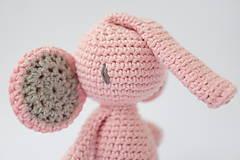 Hračky - sloník (púdrovo ružový) - 10309285_