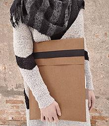 Úžitkový textil - Papierový obal na notebook // sierra black - 10310376_