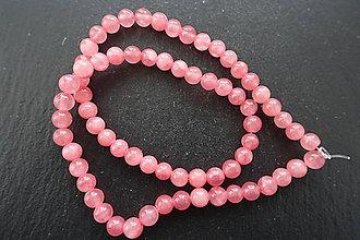 Minerály - Jadeit šnúry 6mm (Ružová) - 10308537_