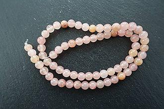 Minerály - Jadeit šnúry 6mm (Ružová) - 10308550_