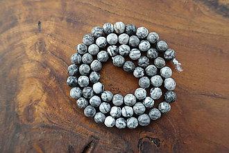Minerály - Jaspis sivý fazetovaný 6mm - 10310601_