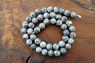 Minerály - Jaspis sivý fazetovaný 8,5mm - 10310629_