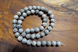 Minerály - Jaspis sivý 8mm - 10310683_