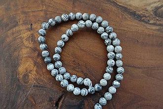 Minerály - Jaspis sivý 6,5mm - 10310771_