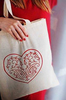 Nákupné tašky - Zaláskaná plátenná taška - 10309661_