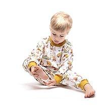 Detské oblečenie - Lesný relax horčičový patent - 10310384_