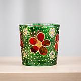 Svietidlá a sviečky - VÝPREDAJ - Svietnik - Kvety v tráve - 10309088_