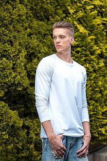 Oblečenie - Pánske tričko z organickej bavlny, dlhý rukáv, okrúhly výstrih - 10307037_
