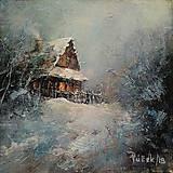 Obrazy - Zimný podvečer. - 10310423_