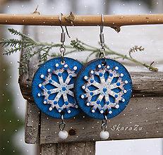 Náušnice - Zimné kvety - 10310739_