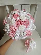Kytice pre nevestu - Rozkvitnutá ružová - 10307444_