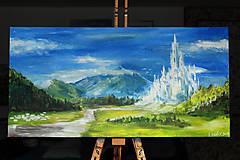 Obrazy - • Majestátne ľadové kráľovstvo • /maľba akrylom/ - 10309305_