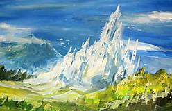 Obrazy - • Majestátne ľadové kráľovstvo • /maľba akrylom/ - 10309306_