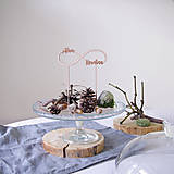 Dekorácie - NEKONEČNO S MENAMI personalizovaný zápich na tortu - 10310919_
