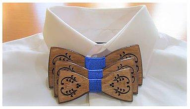 Doplnky - Pánsky drevený motýlik FOLK otec, syn a synček - 10309295_