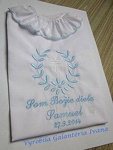 Detské oblečenie - Košieľka na krst K10 modrá (Odoslanie do 21 dní) - 10308979_