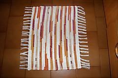 Úžitkový textil - Tkaný koberec malý žlto-oranžovo-bordový - 10310258_