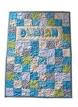 Textil - Detská patchworková deka - 10314362_