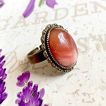 Prstene - Cherry Quartz & Vintage Lace Ring / Prsteň s cherry krištáľom #1440 - 10311797_