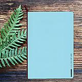 Papiernictvo - MADEBOOK - zošit A5 modrý pastel - 10315321_