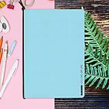 Papiernictvo - MADEBOOK - zošit A5 modrý pastel - 10315322_